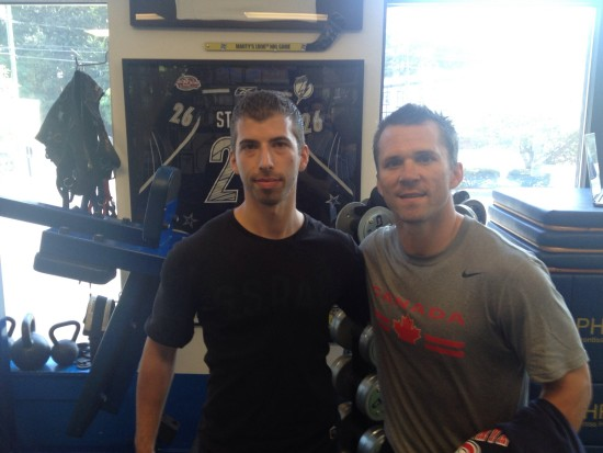 Posing with Stanley Cup champ, MVP, 2x Art Ross winner and Olympic gold winner, Martin St. Louis of the New York Rangers