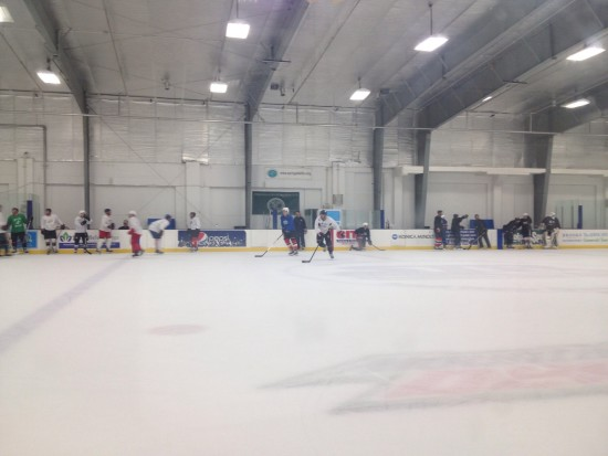 Tuesday night skate at the local rink in Stamford, CT