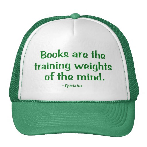 This is the badass study hat I wear when reading my favorite strength and conditioning books