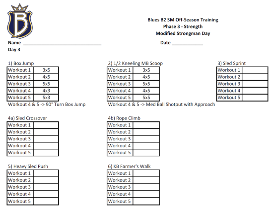 Off-Season Hockey Strength Program: Phase 3