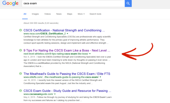 9 tips for nailing the cscs exam like a boss next level athletics ranking high for cscs exam fandeluxe Image collections